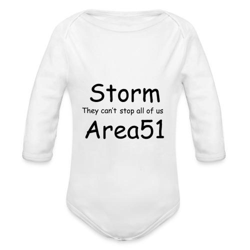 Storm Area 51 - Organic Longsleeve Baby Bodysuit