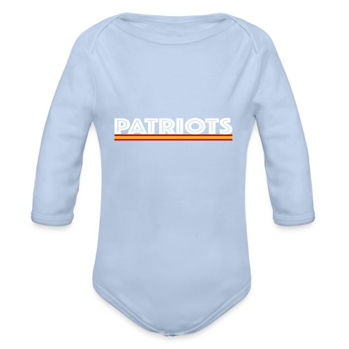 patriots esp 02 blanco - Body orgánico de manga larga para bebé