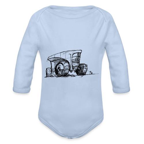 Futuristic design tractor - Organic Longsleeve Baby Bodysuit