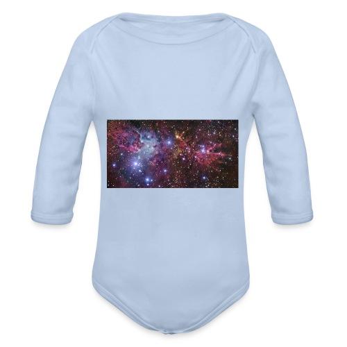 Stjernerummet Mullepose - Langærmet babybody, økologisk bomuld