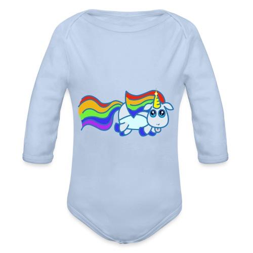 Nyan unicorn - Body ecologico per neonato a manica lunga