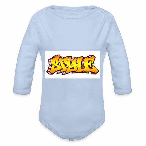 Camiseta estilo - Body orgánico de manga larga para bebé