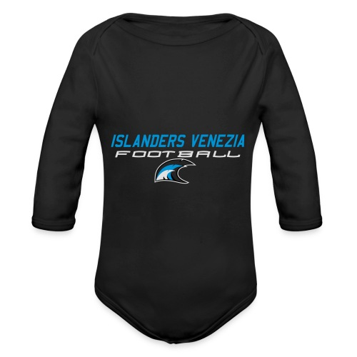 islanders football new logo - Body ecologico per neonato a manica lunga