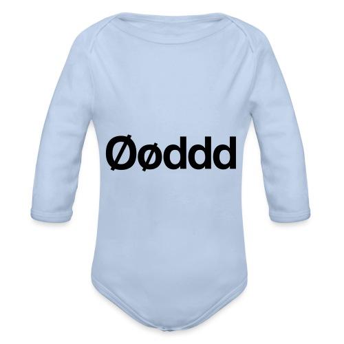 Øøddd (sort skrift) - Langærmet babybody, økologisk bomuld