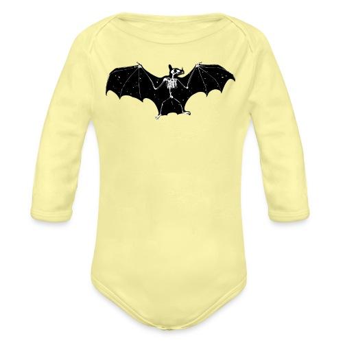 Bat skeleton #1 - Organic Longsleeve Baby Bodysuit