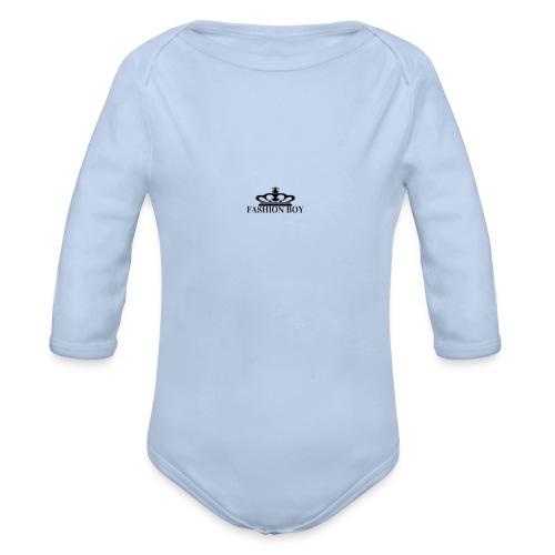fashion boy - Organic Longsleeve Baby Bodysuit