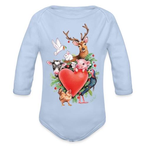 Kerst hart door Maria Tiqwah - Baby bio-rompertje met lange mouwen