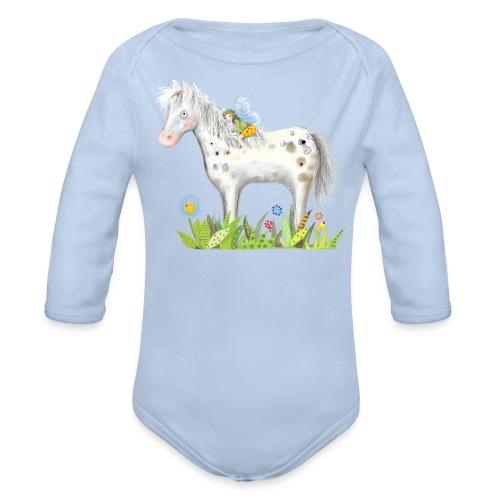 Fee. Das Pferd und die kleine Reiterin. - Baby Bio-Langarm-Body