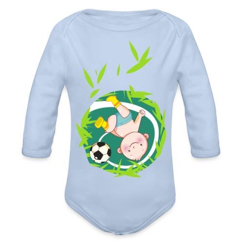 Umstandsmode T-Shirt mit Motiv / Fussball - Baby Bio-Langarm-Body