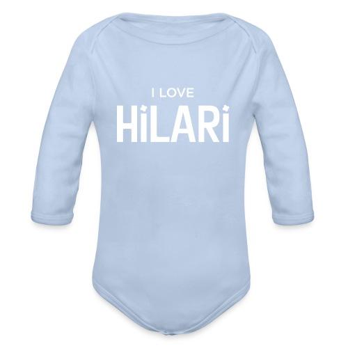 I love HILARI - Baby Bio-Langarm-Body