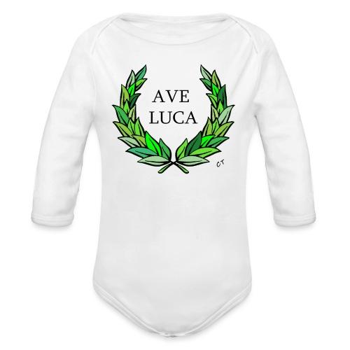 AVE LUCA nome nascita modificabile a richiesta - Body ecologico per neonato a manica lunga