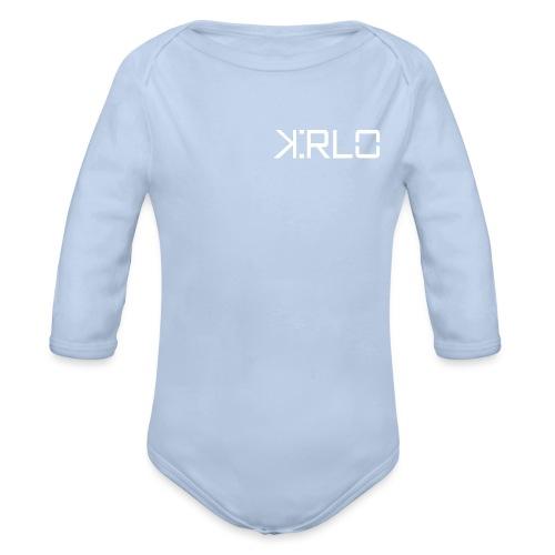 Kirlo Logo Blanco - Body orgánico de manga larga para bebé