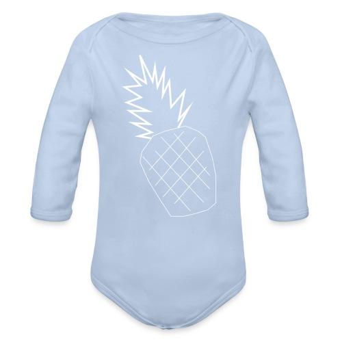 pinapple png - Organic Longsleeve Baby Bodysuit