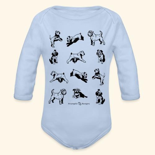 Brussels Griffon pattern - Body Bébé bio manches longues