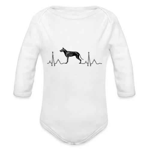 ECG met hond - Baby bio-rompertje met lange mouwen