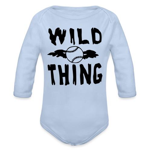 Wild Thing - Organic Longsleeve Baby Bodysuit