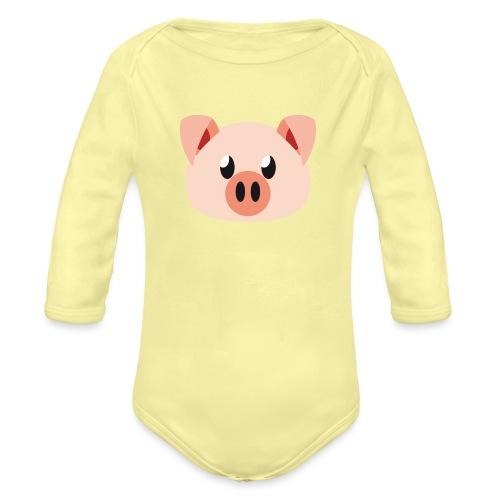 Schweinchen »Oink Oink« - Organic Longsleeve Baby Bodysuit