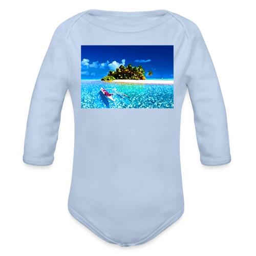 Ile de Polynesie - Body Bébé bio manches longues