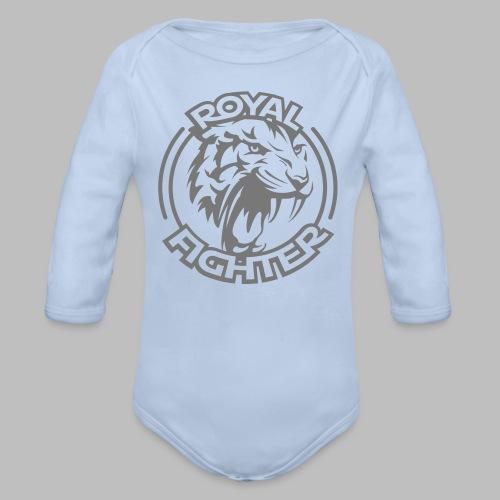 ROYAL FIGHTER einfarbig - Baby Bio-Langarm-Body
