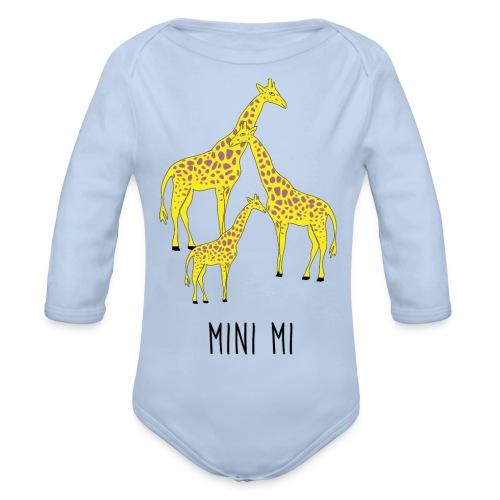 Giraffen Familie - Baby Bio-Langarm-Body
