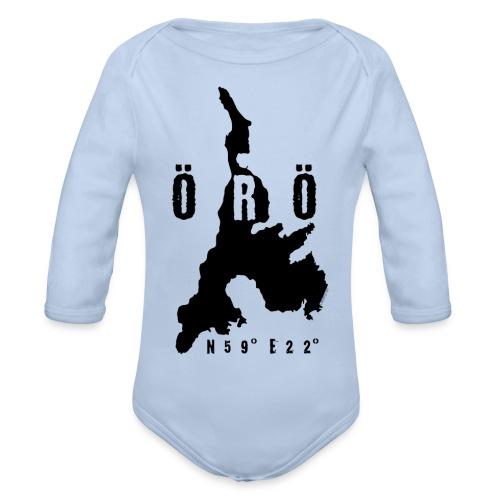 ÖRÖ ISLAND, FINLAND T-SHIRTS, HOODIES + 150 GIFTS - Vauvan pitkähihainen luomu-body