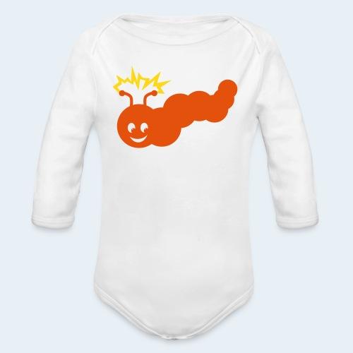 Stromer Raupe zweifarbig - Baby Bio-Langarm-Body