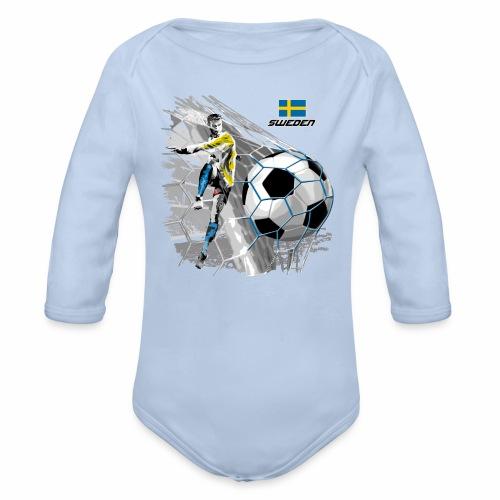 FP22F 16 SWEDEN FOOTBALL - Vauvan pitkähihainen luomu-body