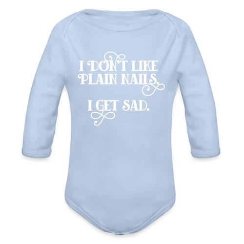 I don't like plain nails - Baby bio-rompertje met lange mouwen
