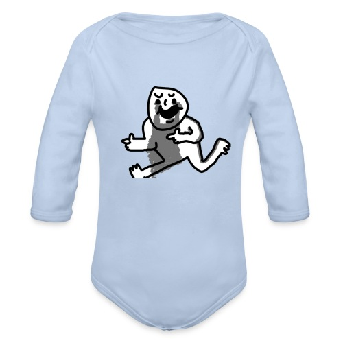 Where am I? - Organic Longsleeve Baby Bodysuit