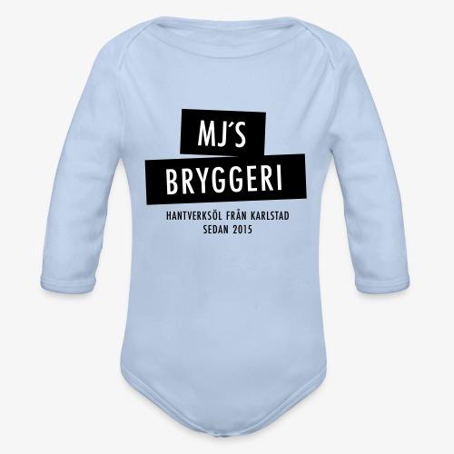 MJs logga - Ekologisk långärmad babybody