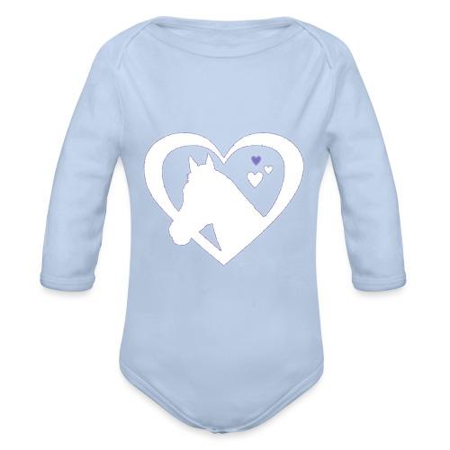horse heart - Baby bio-rompertje met lange mouwen