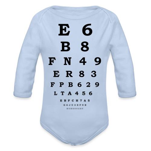 Sehtest - Baby Bio-Langarm-Body