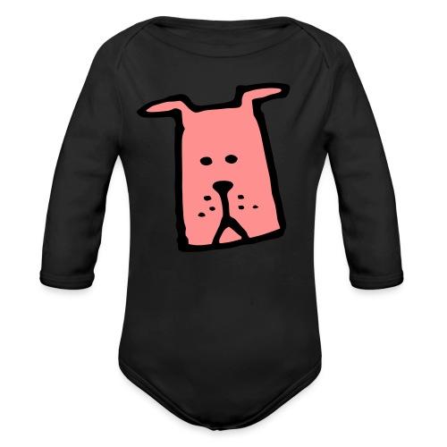süßer Hund - Design - Geschenk für Kinder - Comic - Baby Bio-Langarm-Body