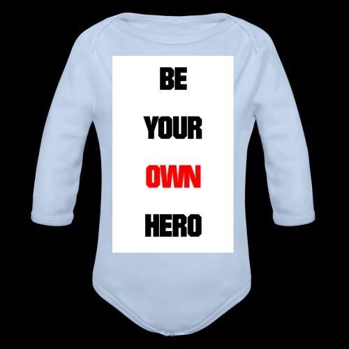 BE YOUR OWN HERO - Baby Bio-Langarm-Body