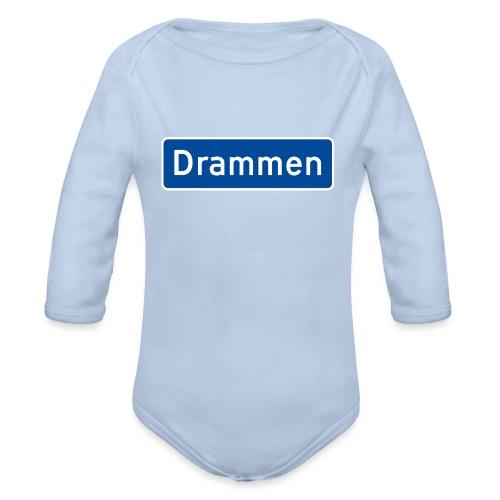 Drammen veiskilt (fra Det norske plagg) - Økologisk langermet baby-body