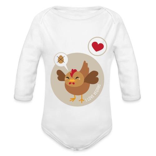 I love Vegans - Organic Longsleeve Baby Bodysuit