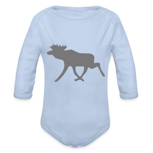 Schwedenelch; schwedisches Elch-Symbol (vektor) - Baby Bio-Langarm-Body