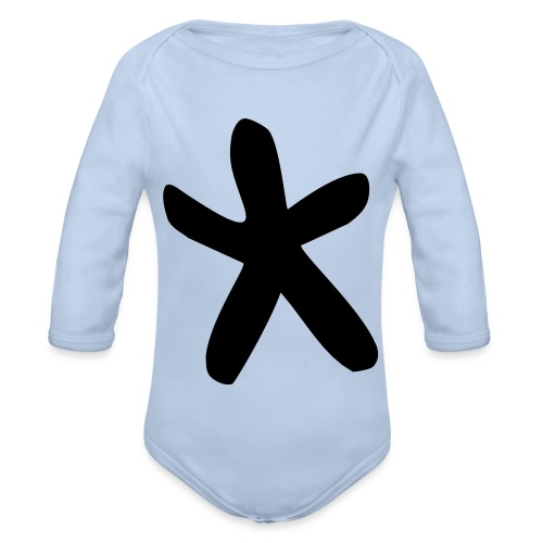 Wills Cwtch Hoodie, with a star on the front and - Organic Longsleeve Baby Bodysuit