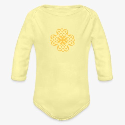 Shamrock Celtic knot decoration patjila - Organic Longsleeve Baby Bodysuit