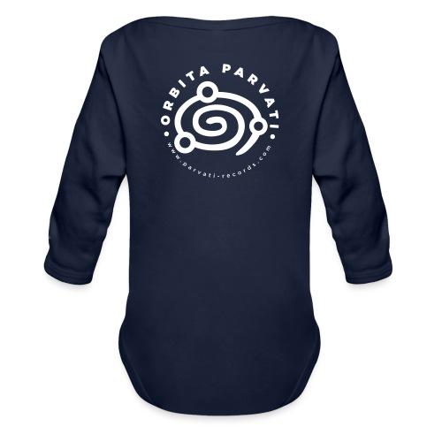 Orbita Parvati white logo - Organic Longsleeve Baby Bodysuit