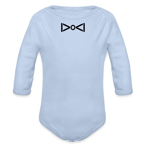 BOW TIE II - Organic Longsleeve Baby Bodysuit