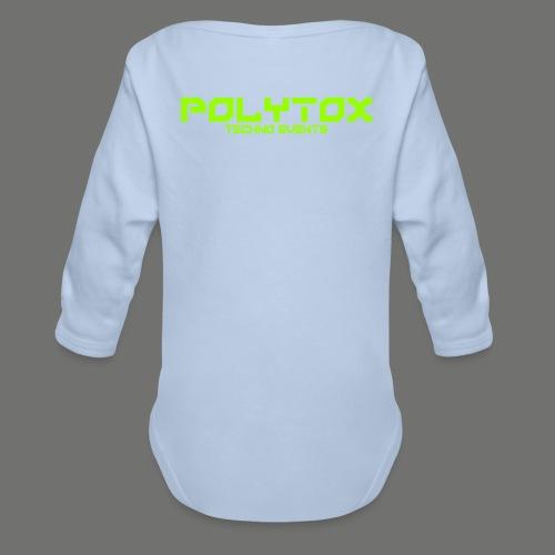 POLYTOX Techno Events Merch - Baby Bio-Langarm-Body