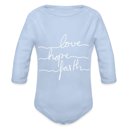 LoveHopeFaith Typo - Baby Bio-Langarm-Body