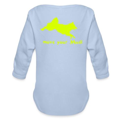move your mudi - Organic Longsleeve Baby Bodysuit