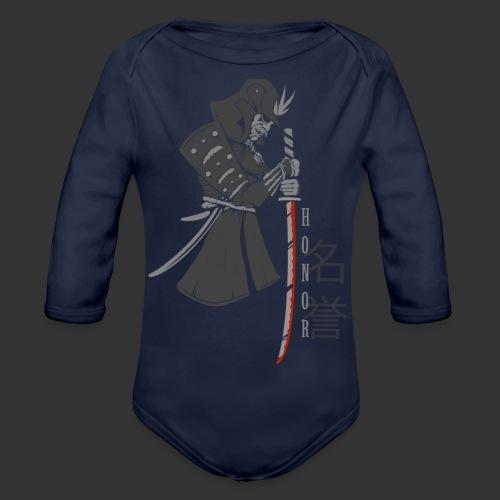 Samurai Digital Print - Organic Longsleeve Baby Bodysuit
