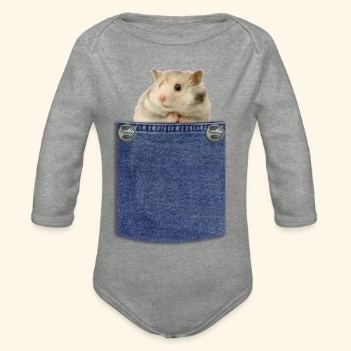 hamster in the poket - Body ecologico per neonato a manica lunga