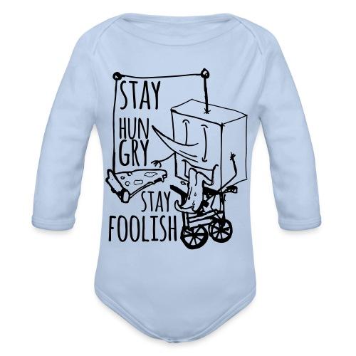 stay hungry stay foolish - Body ecologico per neonato a manica lunga