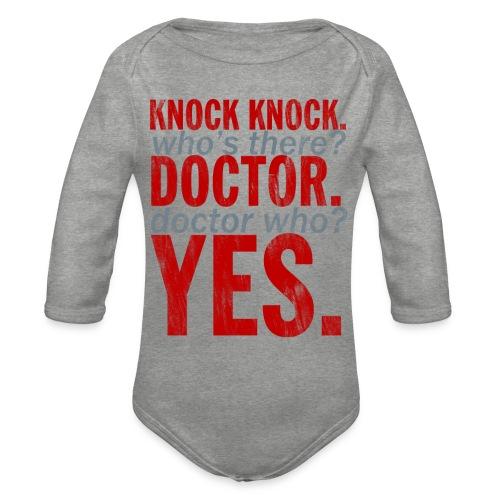 Knock Knock! Doctor Who? Design - Organic Longsleeve Baby Bodysuit