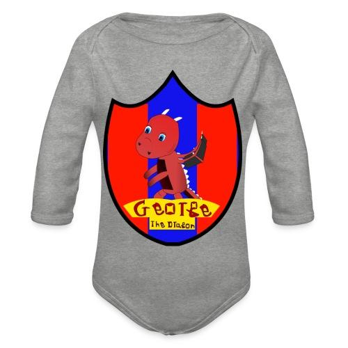 George The Dragon - Organic Longsleeve Baby Bodysuit