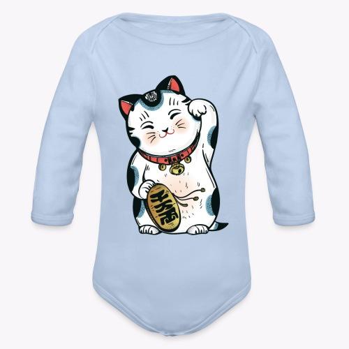 The Lucky Cat - Organic Longsleeve Baby Bodysuit
